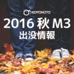 2016秋M3 出没情報